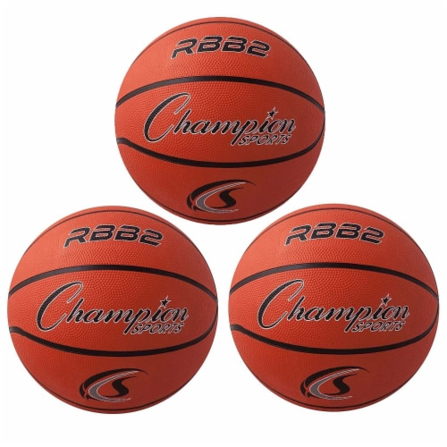 Champion Sports CHSRBB2-3 Champion Basketball - Official Junior Size - 3 Each Perspective: front