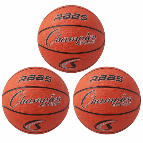 Champion Sports CHSRBB5-3 7 in. Dia. Mini Basketball, Orange - 3 Each Perspective: front