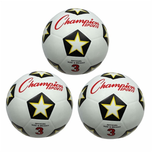 Champion Sports CHSSRB3-3 Champion Soccer Ball - No 3 - 3 Each Perspective: front