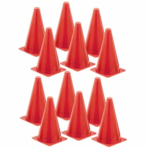 Champion Sports CHSTC9-12 Safety Cone, 9 in. - 12 Each Perspective: front