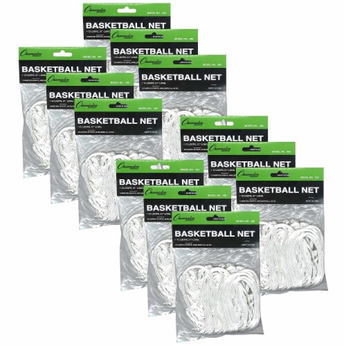 Economy Basketball Net, 4mm, Pack of 12 Perspective: front