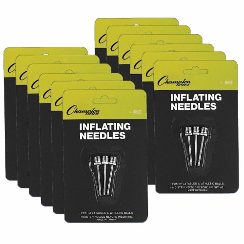 Inflating Needles for Air Pump, 3 Per Pack, 12 Packs Perspective: front