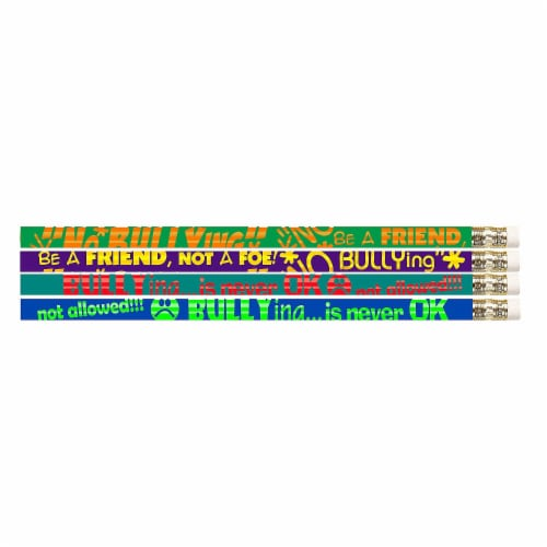 No Bullying Motivational Pencils, 12 Per Pack, 12 Packs Perspective: front