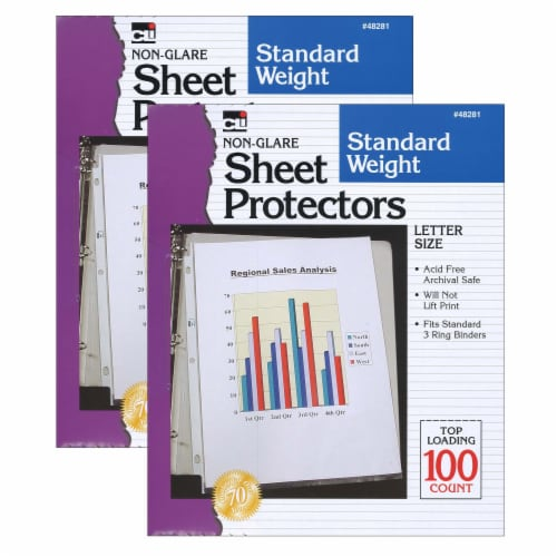 Charles Leonard Inc Letter Size Sheet Protectors Perspective: front