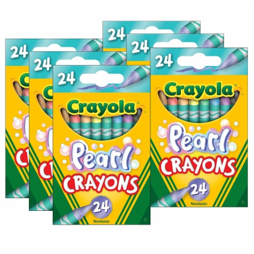 Crayola BIN523409-6 Pearl Crayons - 24 Per Pack - Pack of 6 Perspective: front