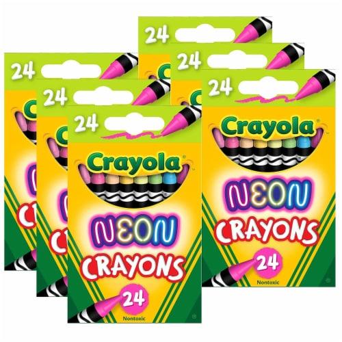 Crayola BIN523410-6 Neon Crayons - 24 Per Pack - Pack of 6 Perspective: front