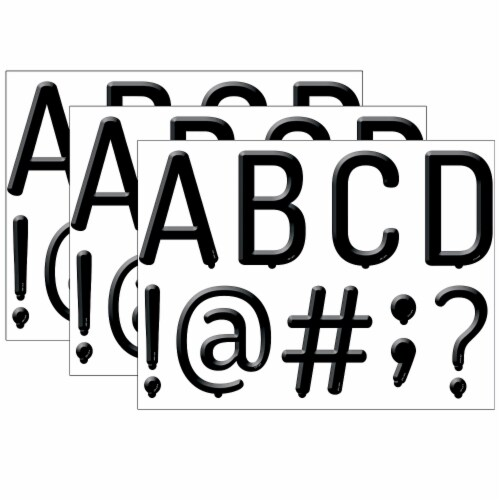 Creative Teaching Press CTP8748-3 5 in. Black Letter Board Designer - Pack of 3 Perspective: front