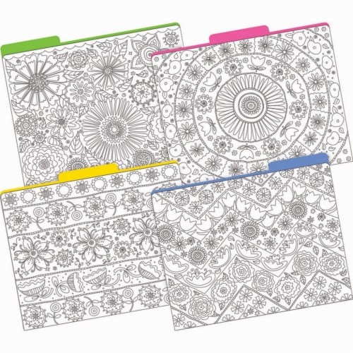 Color Me! In My Garden File Folders, Letter-Size, 12 Per Pack, 2 Packs Perspective: front