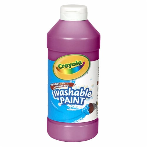 Crayola BIN201669-6 16 oz Washable Paint, Magenta - 6 Each Perspective: front
