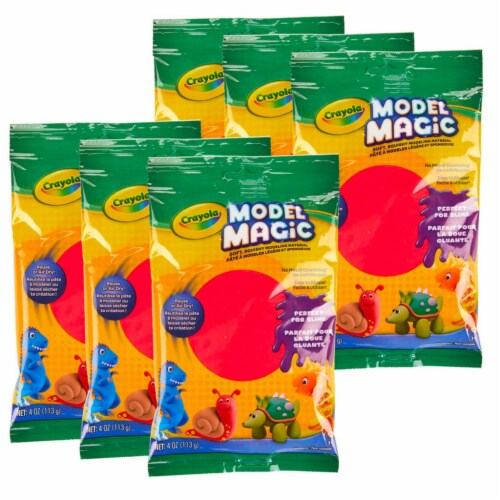 Model Magic® Modeling Compound, Red, 4 oz. Per Pack, 6 Packs Perspective: front
