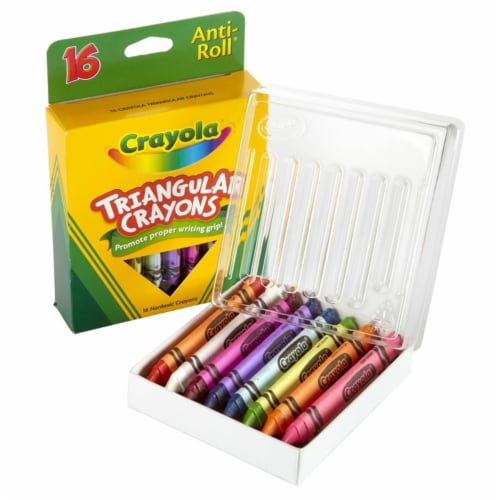Crayola BIN524016-6 Triangular Crayons - 16 Count - Box of 6 Perspective: front