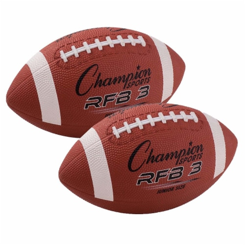 Rubber Football, Junior Size, Pack of 2 Perspective: front