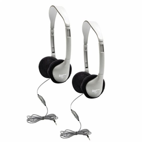 SchoolMate™ On-Ear Stereo Headphone with In-Line Volume Control, Pack of 2 Perspective: front