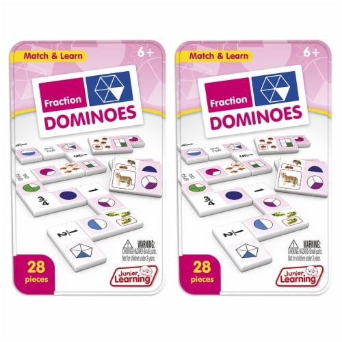 Junior Learning JRL485-2 Fractions Dominoes - 2 Each Perspective: front