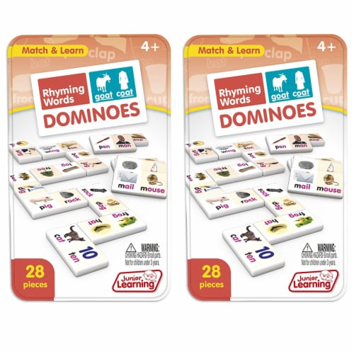 Junior Learning JRL490-2 Rhyming Words Dominoes - 2 Each Perspective: front