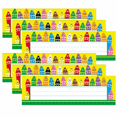 Trend Enterprises T-69013-6 Desk Toppers Colorful Crayons, 2 x 9 in. - 36 Per Pack - 6pk Perspective: front
