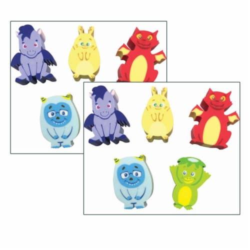 Whatsits™ Collectable Erasers Mystery Packs: Fantasy Friends, 20 Per Set, 2 Sets Perspective: front