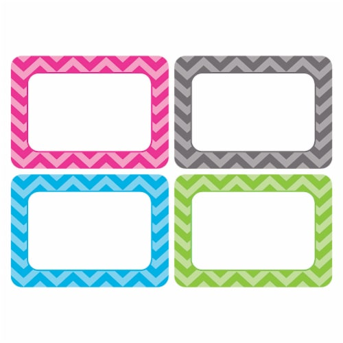 Teacher Created Resources Chevron Name Tags - 6 Pack - Assorted Perspective: front