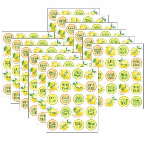 Lemon Zest Stickers, 120 Per Pack, 12 Packs Perspective: front