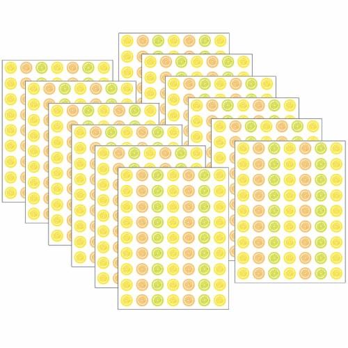 Lemon Zest Mini Stickers, 378 Per Pack, 12 Packs Perspective: front