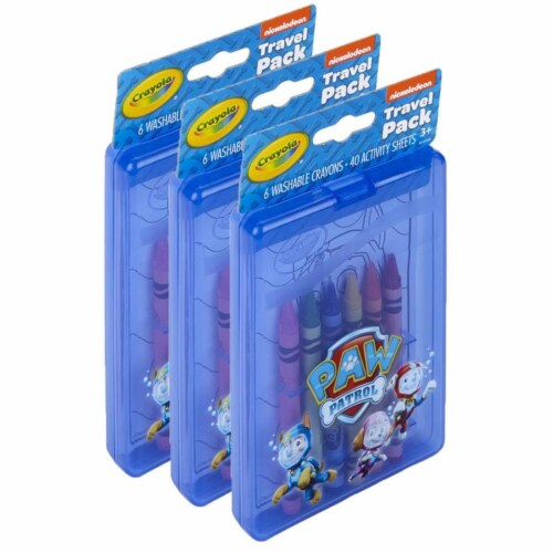 Crayola BIN40393-3 Crayola Paw Patrol Travel Pack - 3 per Pack Perspective: front