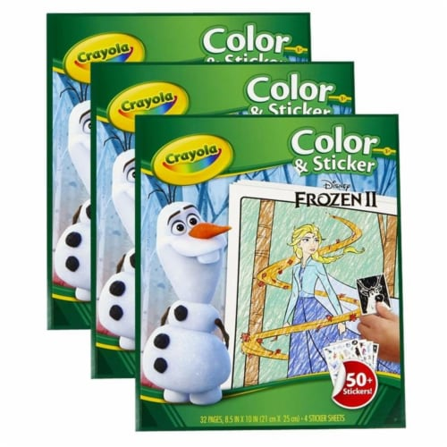 Color & Sticker Book, Frozen 2, Pack of 3 Perspective: front