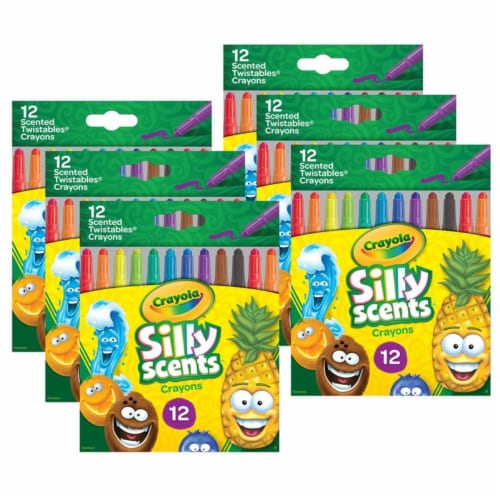 Silly Scents Mini Twistables Scented Crayons, 12 Per Pack, 6 Packs Perspective: front