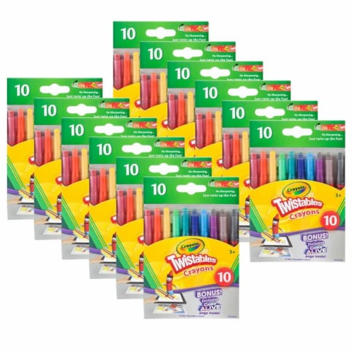 Crayola BIN529715-12 Mini Twistables Crayons - 10 Count - Pack of 12 Perspective: front