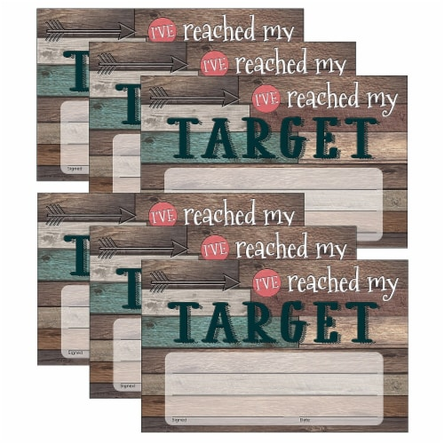Teacher Created Resources TCR8821-6 Ive Reached My Target Awards for Grade PK Plus, Brown - P Perspective: front