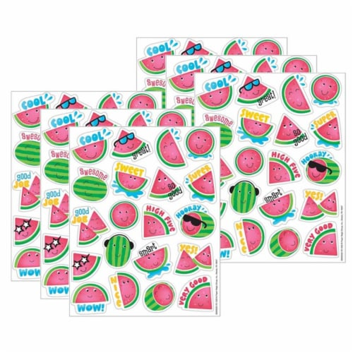 Watermelon Scented Stickers, 80 Per Pack, 6 Packs Perspective: front