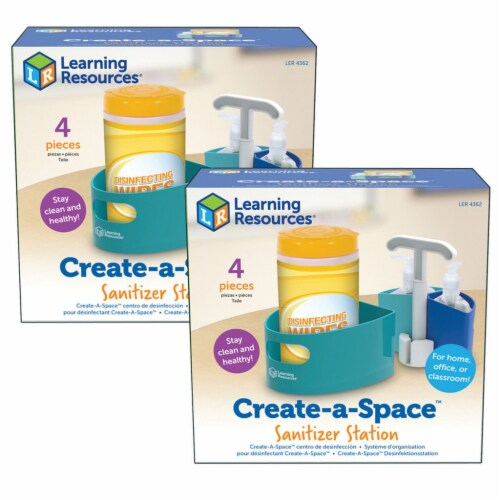Create-A-Space™ Sanitizer Station, Pack of 2 Perspective: front