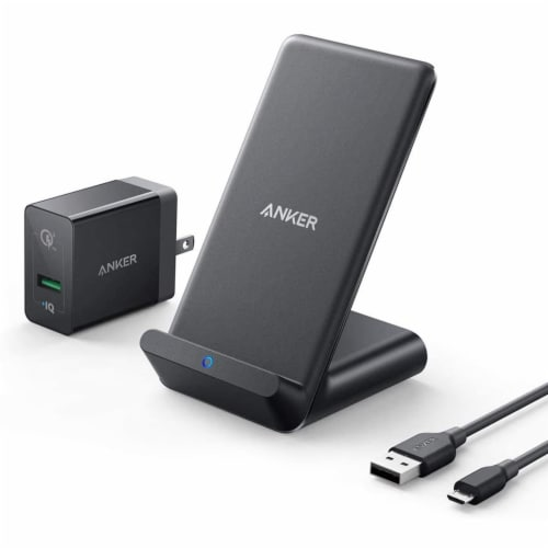 Anker PowerWave Wireless Phone Stand with Charger Perspective: front