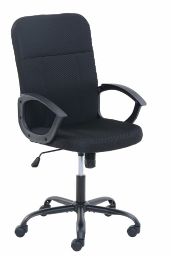 Living Style Ansel Office Chair - Black Perspective: front