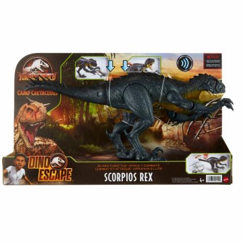 Mattel Jurassic World Slash N Bash Scorpius Rex Action Figure Perspective: front