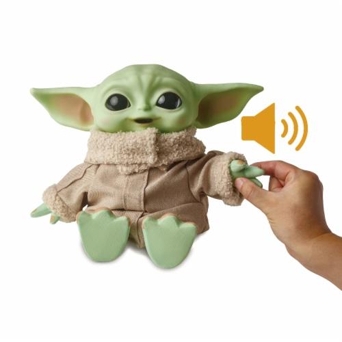 Mattel Star Wars The Mandalorian The Child Premium Plush Bundle Perspective: front