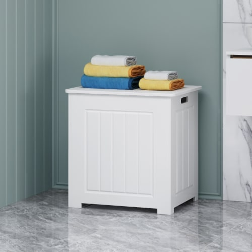 Jessica Modern Laundry Hamper with Lid Perspective: front