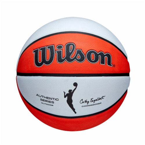Wilson Sporting Goods WNBA Authentic Outdoor Official Women's Size Basketball - Orange/White Perspective: front