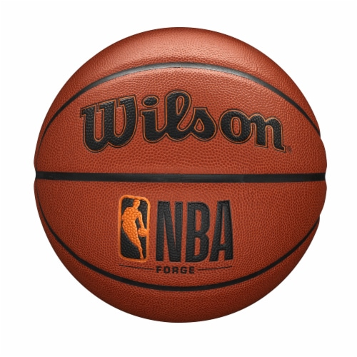 Wilson Sporting Goods NBA Forge Intermediate Size Basketball - Orange/Black Perspective: front