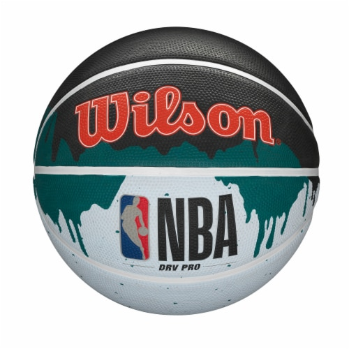 Wilson Sporting Goods NBA DRV PRO Youth Size Drip Paint Basketball Perspective: front