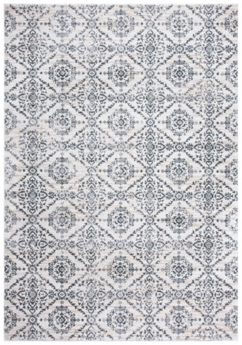 Martha Stewart Collection Isabella Area Rug - Cream/Gray Perspective: front