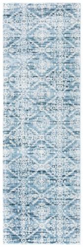 Safavieh Martha Stewart Collection Isabella Floor Runner Rug - Denim Blue/Ivory Perspective: front