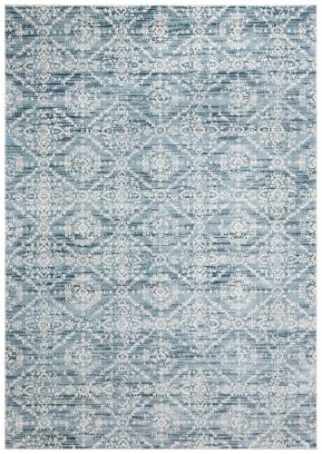 Safavieh Martha Stewart Collection Isabella Accent Rug - Denim Blue/Ivory Perspective: front