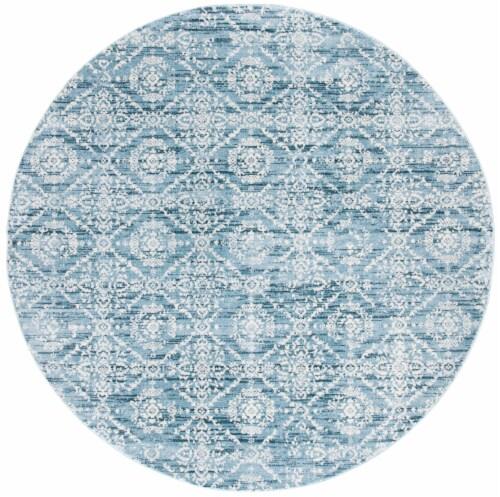 Safavieh Martha Stewart Collection Isabella Round Rug - Denim Blue/Ivory Perspective: front