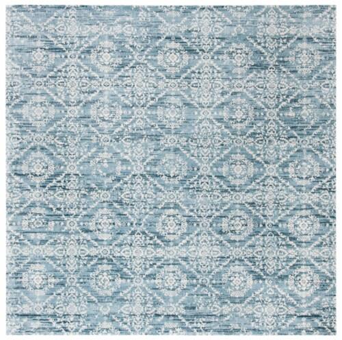 Safavieh Martha Stewart Isabella Square Rug - Denim Blue/Ivory Perspective: front