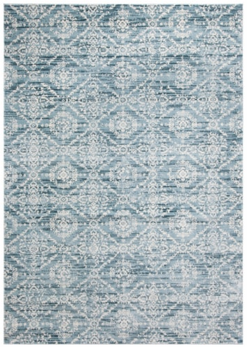 Martha Stewart Collection Isabella Area Rug - Denim Blue/Ivory Perspective: front