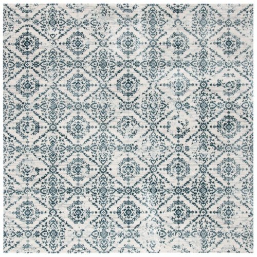Safavieh Martha Stewart Collection Isabella Square Rug - Navy/Ivory Perspective: front