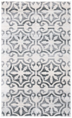 Safavieh Martha Stewart Collection Isabella Accent Rug - Gray/Ivory Perspective: front