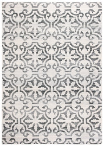 Martha Stewart Collection Isabella Accent Rug - Gray/Ivory Perspective: front