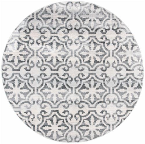 Safavieh Martha Stewart Isabella Round Rug - Gray/Ivory Perspective: front