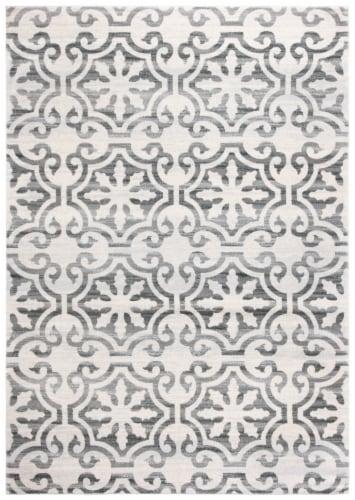 Martha Stewart Isabella Rug - Grey/Ivory Perspective: front